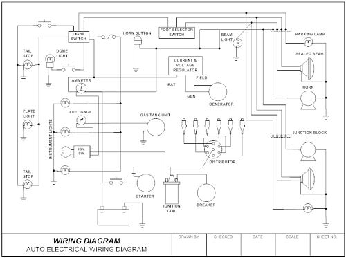 Smartdraw: Contact Wiring Diagram Drawing At Sewuka.co