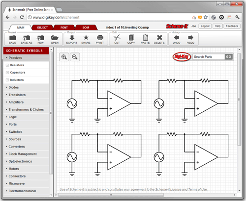 Logic Diagram Online - Example Electrical Circuit •