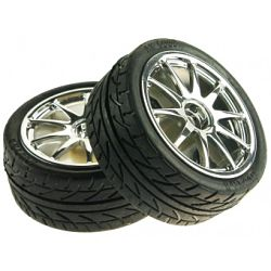 D65mm Rubber Wheel Pair