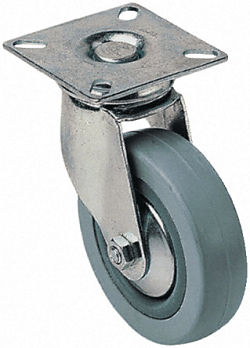Rubber tyred wheel,100mm