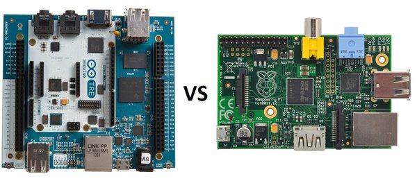 Arduino Tre vs. Raspberry Pi Model B