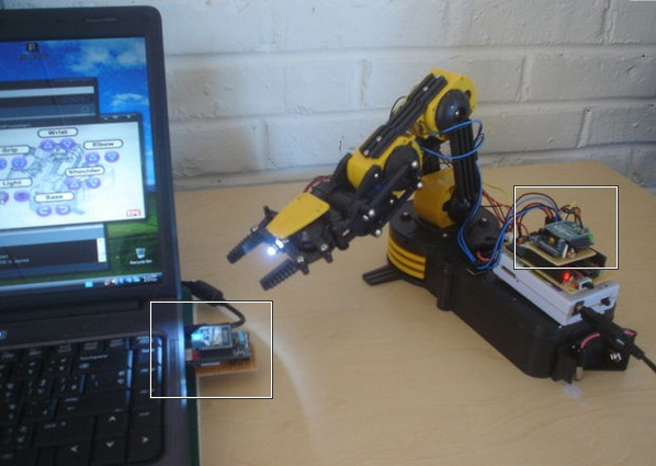 The best diy robotic arms you can build at home into robotics robotic arm controlled wireless with diy arduino xbee solutioingenieria Images