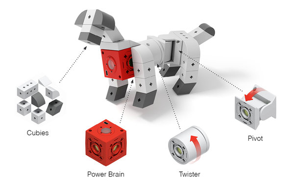 The red cube is the Power Brain