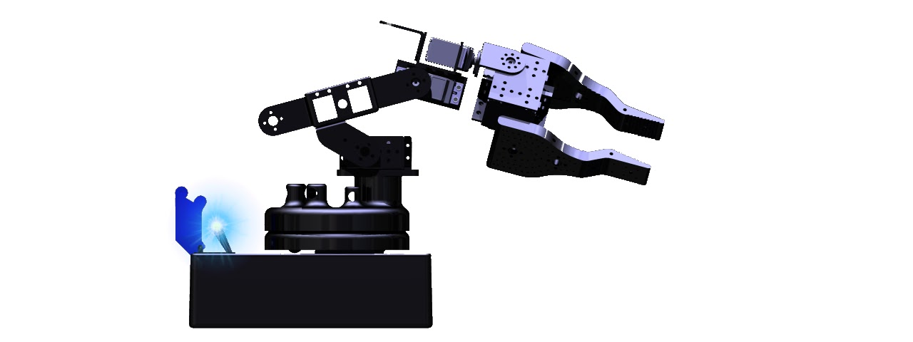 Arduino robotic arm controlled by xbox wireless