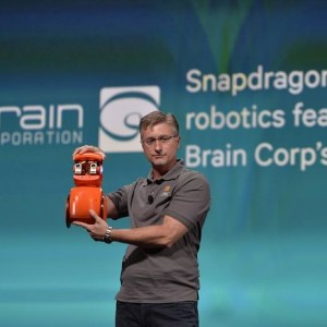 Todd Hylton of Brain Corporation used gestures to train a wheeled robot