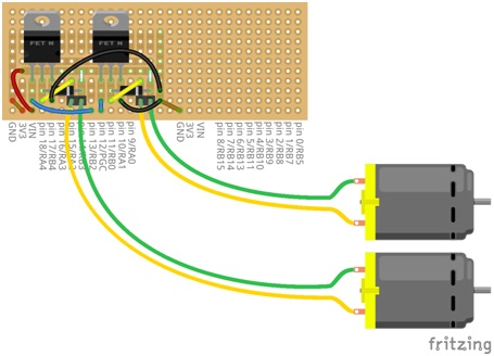 This is how our motor controller will be laid