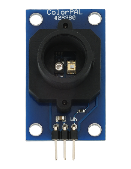 The ColorPAL sensor able to detect red, blue and green lights