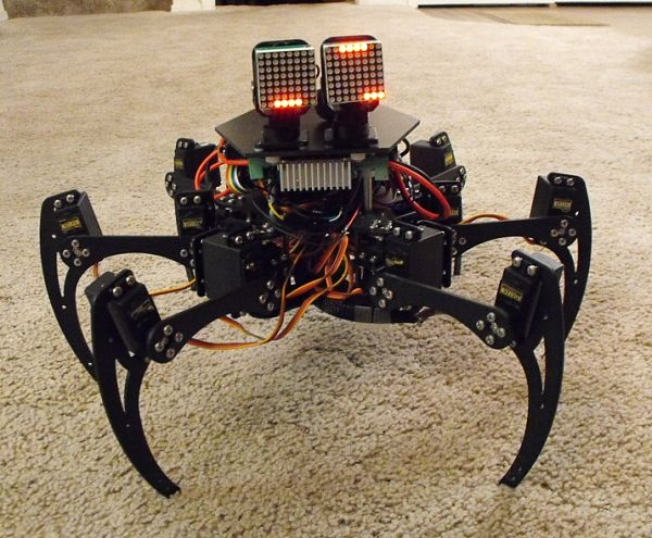 The Halloween Hex spider robot
