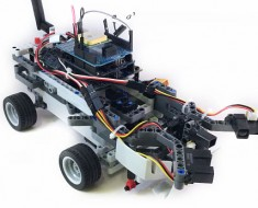 An autonomous rover with a GPS module attached