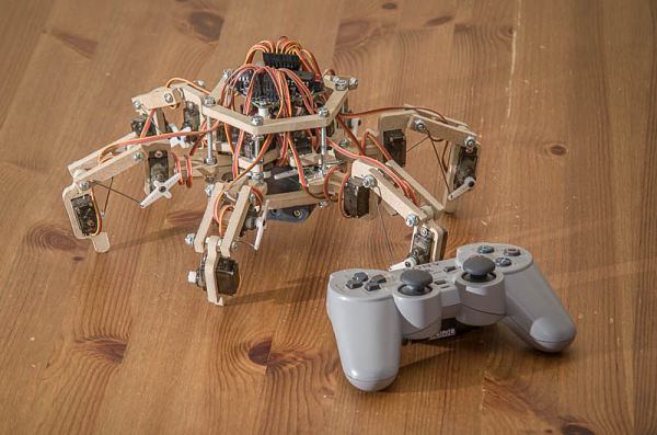 The Stubby hexapod robot designed by Wyatt Olson