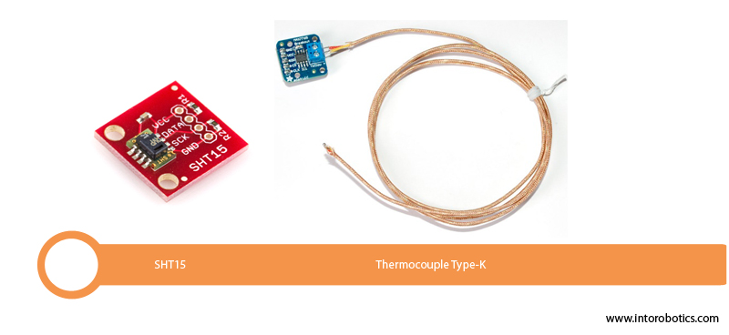 Temperature sensors for automation & process control (SHT15, Thermocouple Type-K)