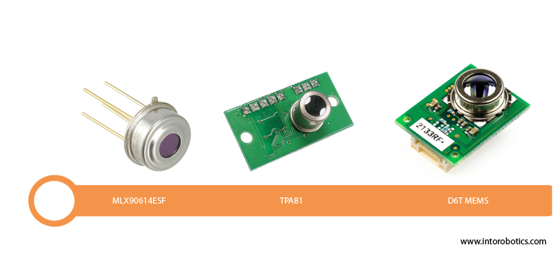 Temperature sensors for projects with special needs (MLX90614ESF, TPA81, D6T MEMS)