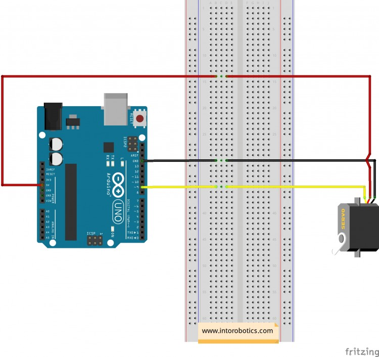 Tutorial: How To Control the Tower Pro SG90 Servo with Arduino UNO on flow controller wiring, speed controller wiring, programmable logic controller wiring, brake controller wiring, stepper controller wiring,