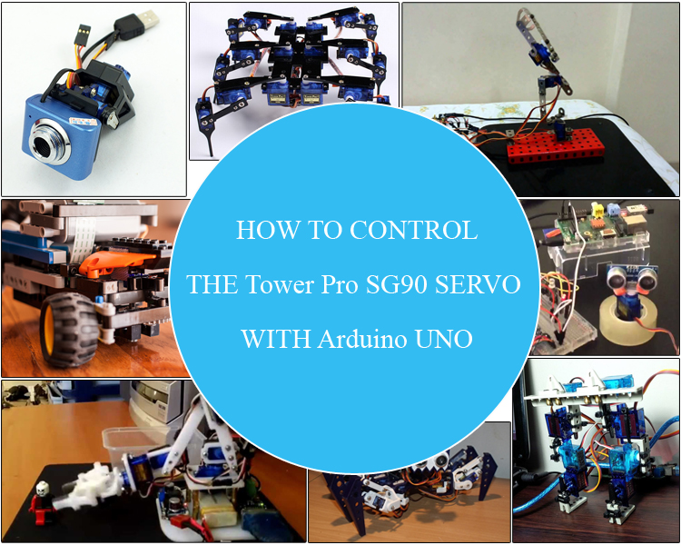 Tutorial how to control the tower pro sg90 servo with for How to control servo motor