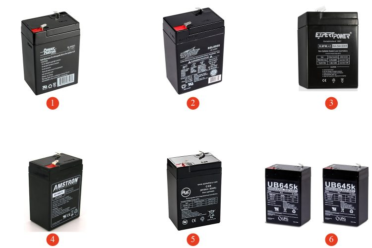 6V 6A/5A/4A Acid Batteries for Every Budget