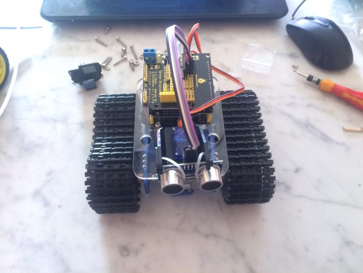 Mini Tank Robot Assembled