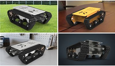 Jujon DIY Metal Smart Robot Tank Car Chassis for Arduino DIY Simple Flexible Sturcture