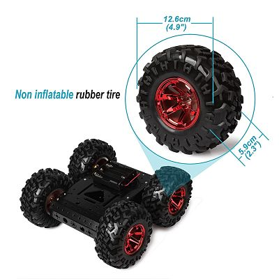 Red High Power 4WD Smart Car Chassis Kit