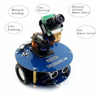 Robot Kit With Raspberry Pi 3 Model B+ for Computer Vision Applications