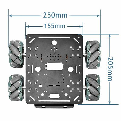 4WD Mecanum Wheels Chassis for Prototyping Robots
